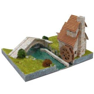 AEDES ARS Steinbaukasten - Wassermühle mit Brücke