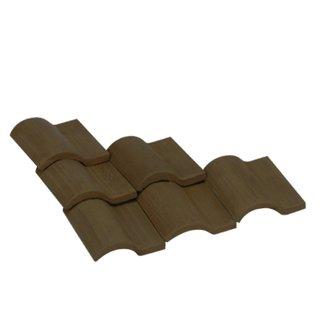 AEDES ARS - Dachziegel Romana 1/10 schwarz 25 Stück