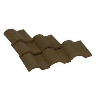 AEDES ARS - Dachziegel Romana 1/10 schwarz 100 Stück